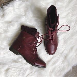 "The Maroon ""Pearce"" Bootie"